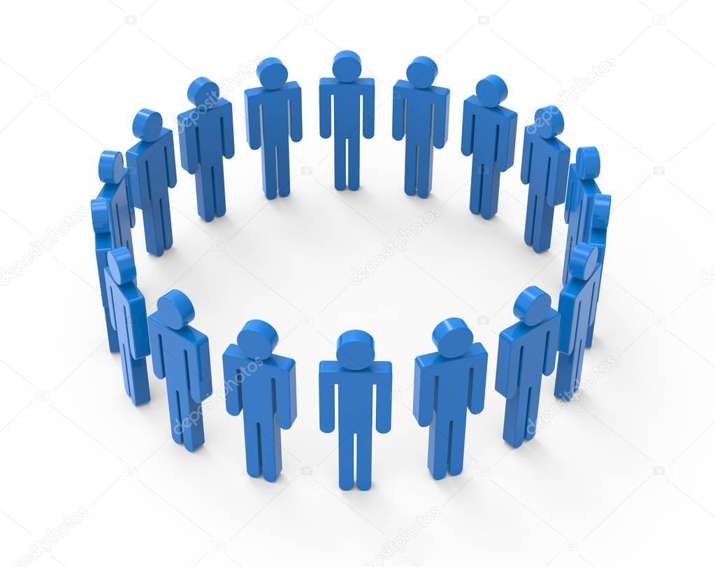 circle of blue men images