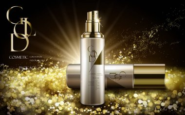 golden cosmetic product