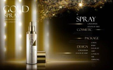 golden spray ad
