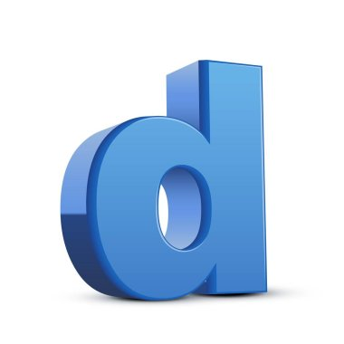 lowercase blue letter D