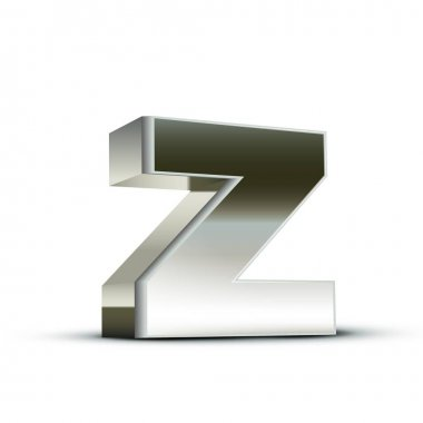 lowercase steel letter Z