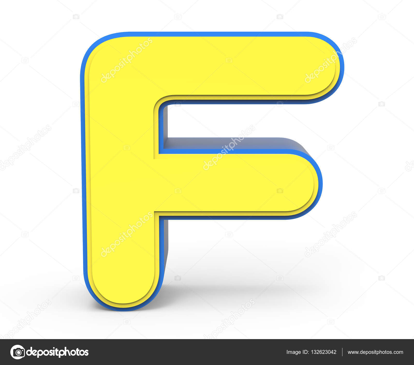 Cute yellow letter F — Stock Photo © kchungtw #132623042