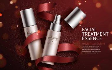 Exquisite cosmetic ads