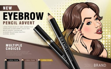 colorful eyebrow pencil ad
