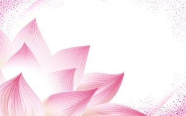 "Картина, постер, плакат, фотообои ""половина lotus цветочный фон"", артикул 134985592"