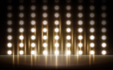 light spotted stage