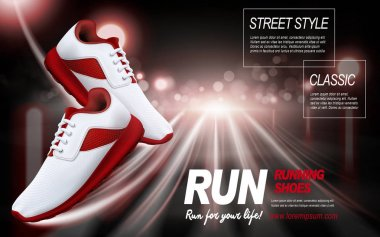 red running shoes ad