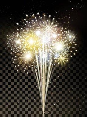 golden firework elements