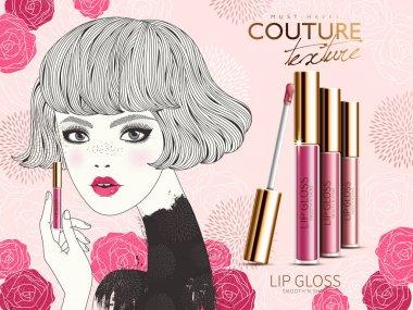 lip gloss ad