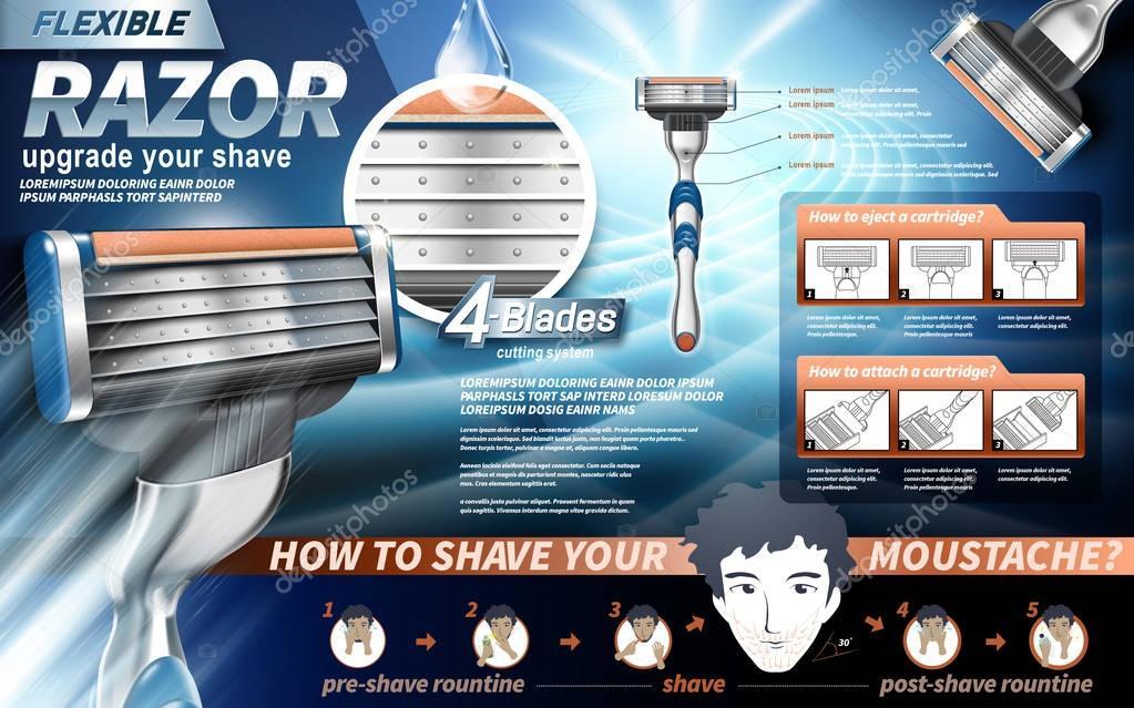 flexible razor ad