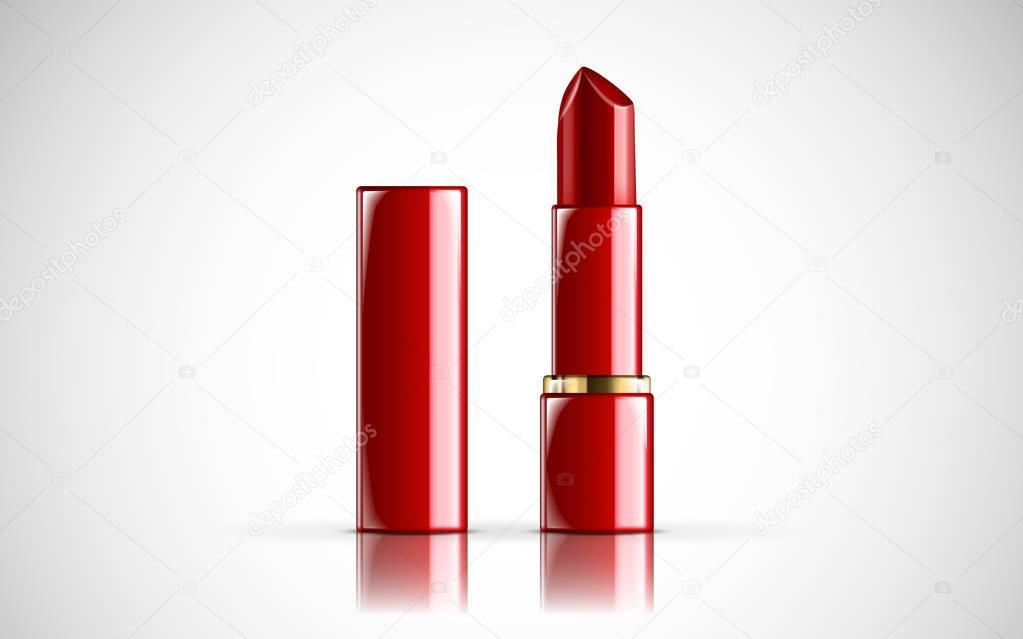 red lipsticks model
