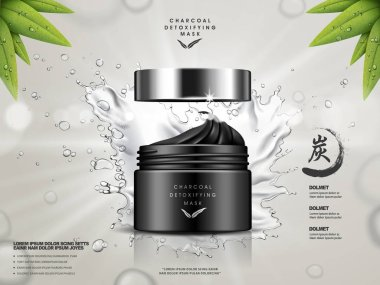 charcoal detoxifying mask ad