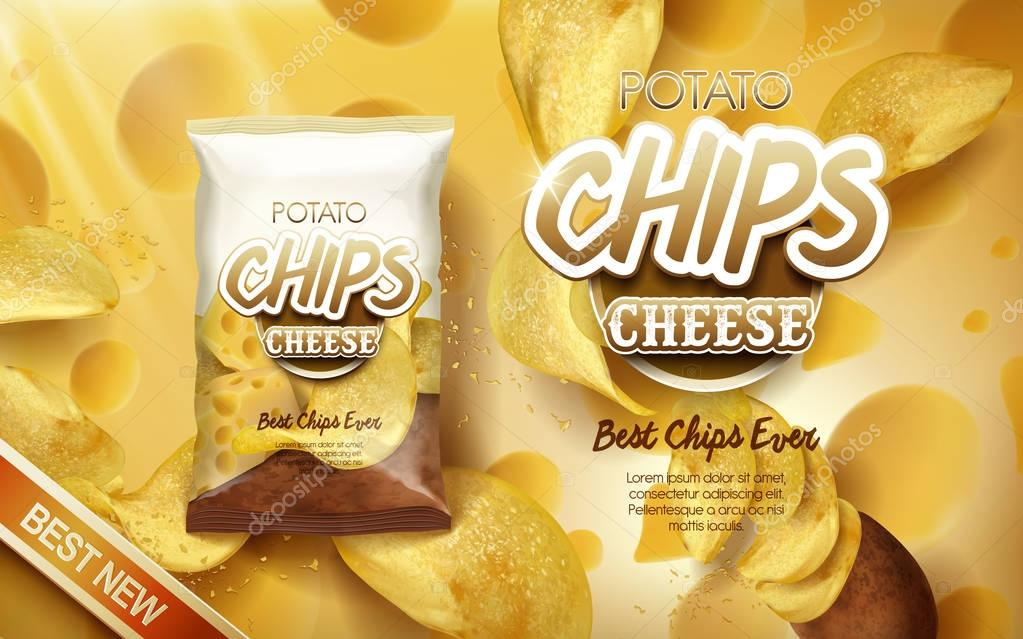 potato chips ad cheese