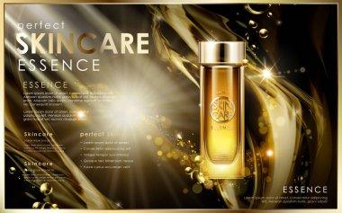 golden skincare essence
