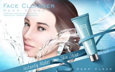 face cleanser ad