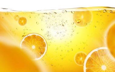 sliced orange in juice