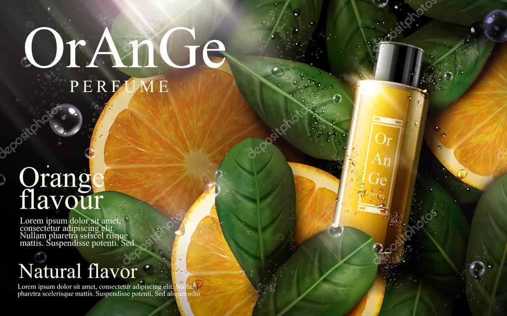 Orange perfume ad