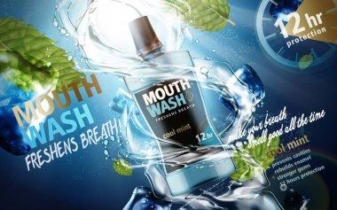 mouthwash product ad
