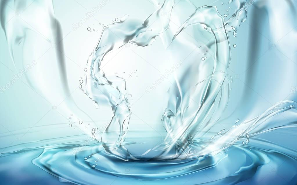 water splash elements