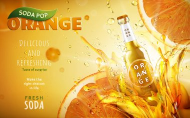 orange soda pop ad