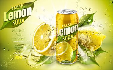 fresh lemon soda ad