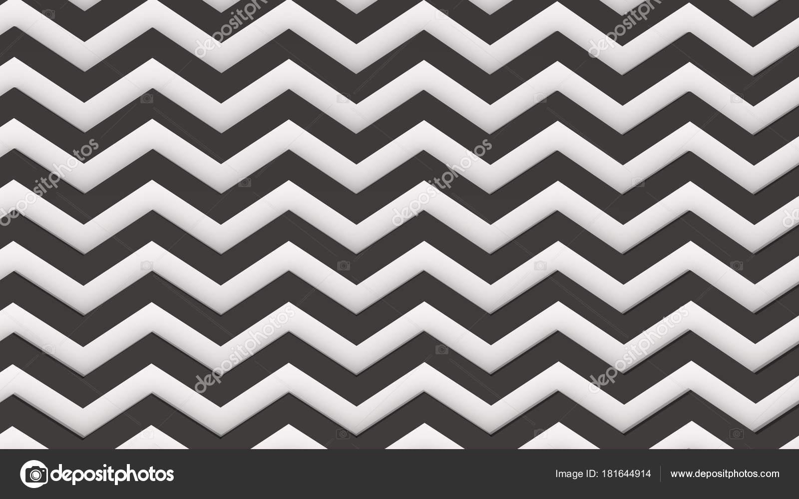 Moderne Render Hintergrund Zick Zack Muster Weiß Und Schwarz ...
