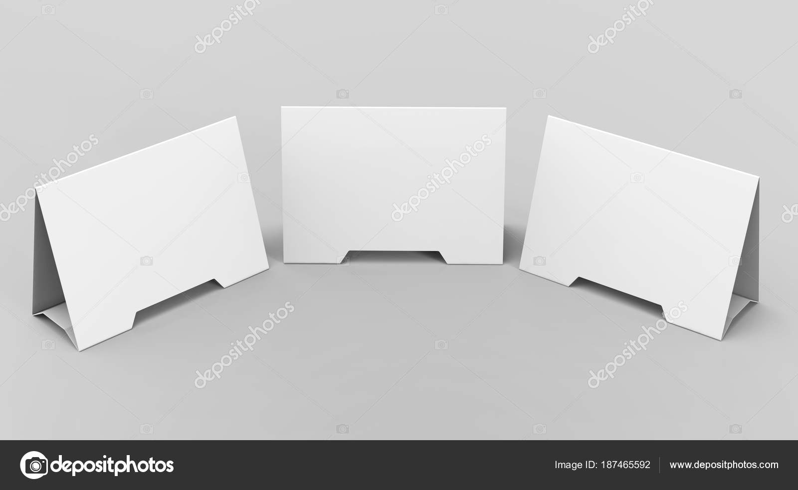 Blank Table Tent Stock Photo Kchungtw - Table tent card stock