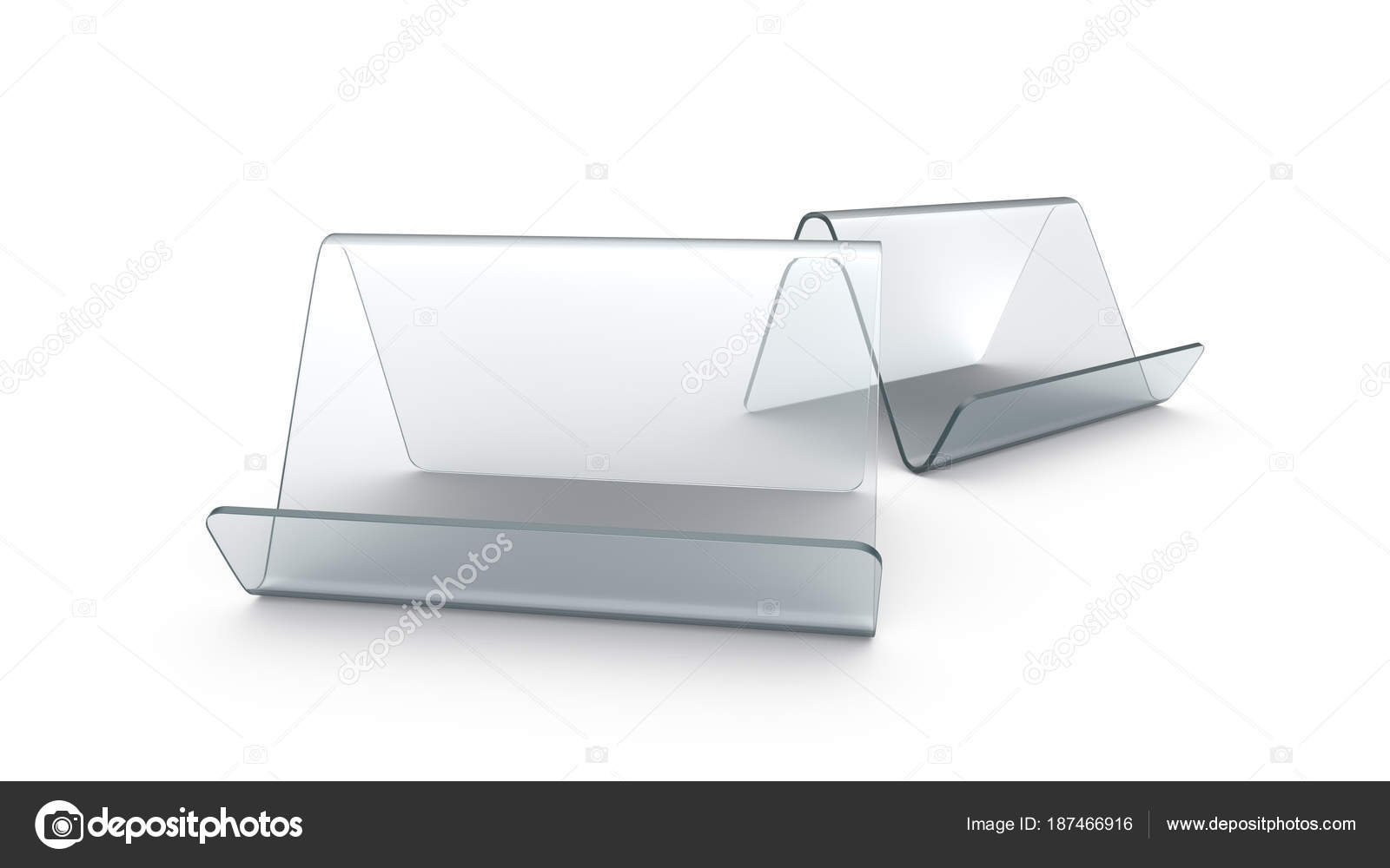 Display Stand Or Acrylic Table Tent Stock Photo Kchungtw - Acrylic table tents