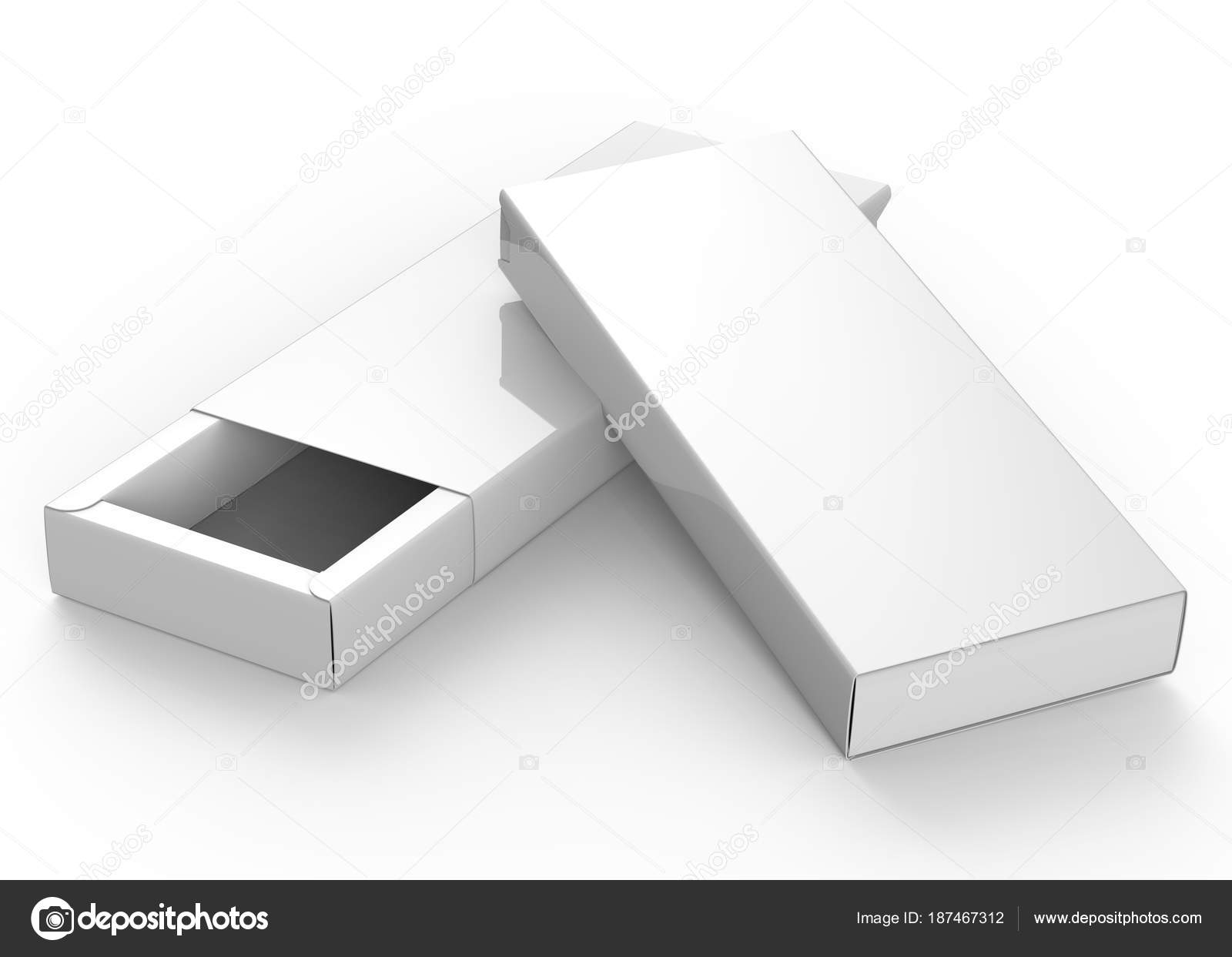 Blank Paper Box Render Rectangle Gift Box Mockup Set Stock Photo