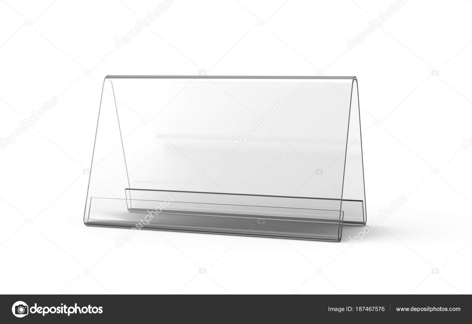 Display Stand Or Acrylic Table Tent Stock Photo Kchungtw - Table tent stands