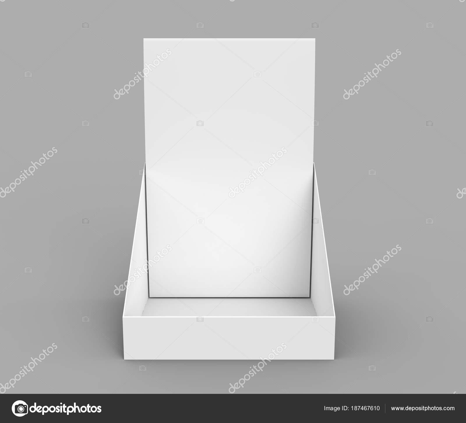 Paper Holder Mockup Blank 3d Render Desktop Stand For Brochure Placement Photo By Kchungtw