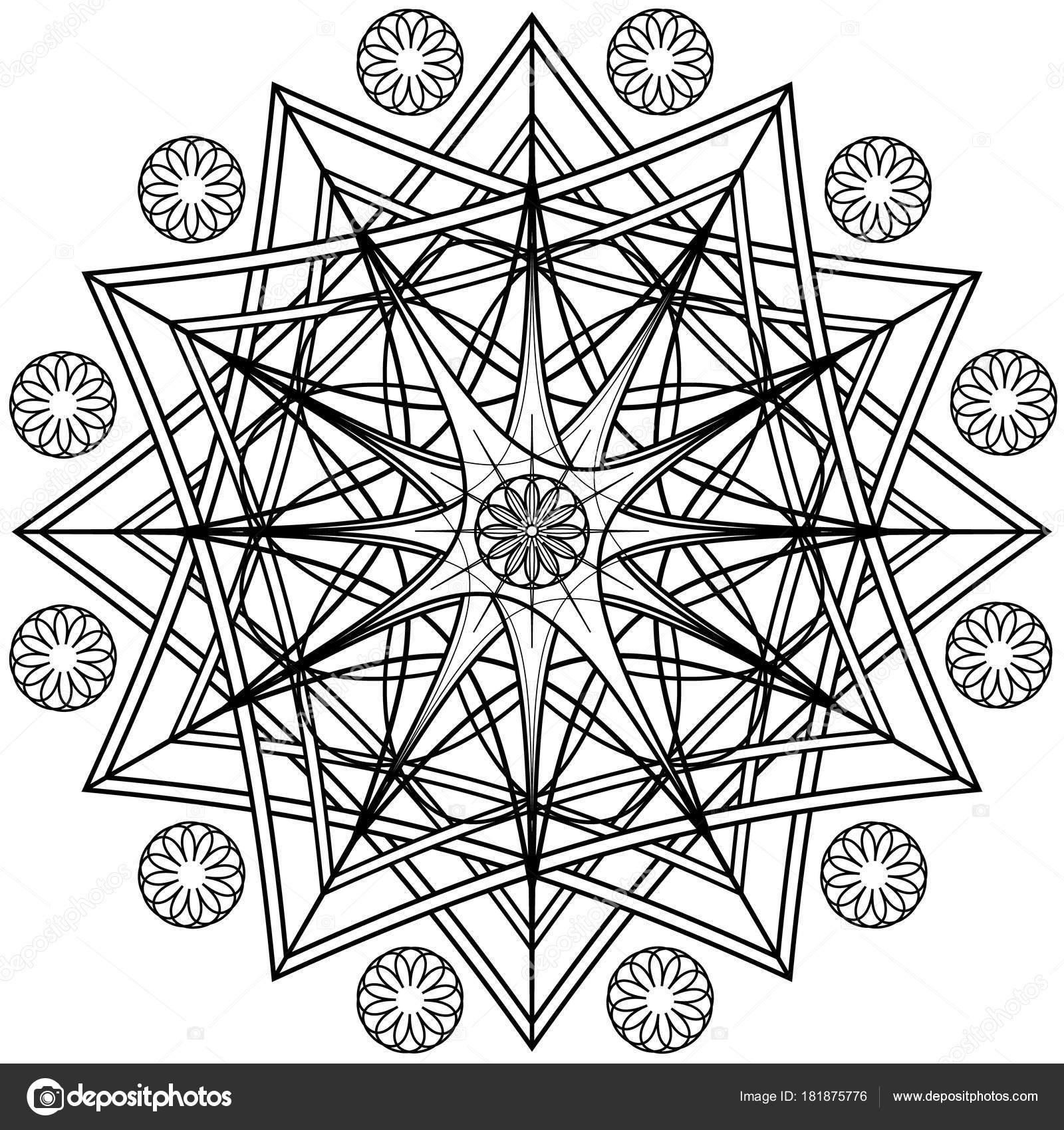 zentangle ilustração vetorial para a arte terapia cartão postal t
