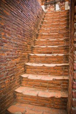 Red brick Stairs