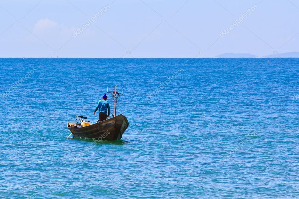 fishing boat on the sea thailand