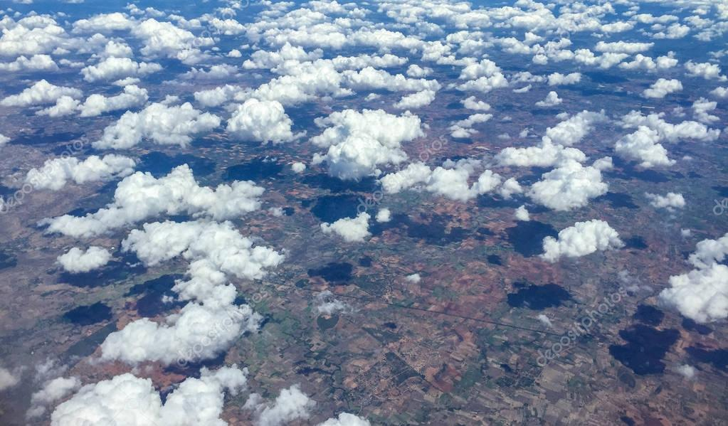 Clouds with earth in distance