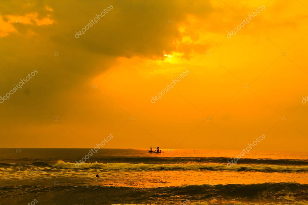 boat in Gulf of Thailand