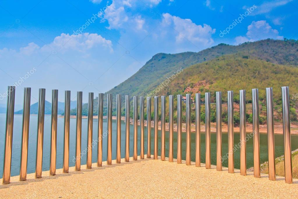 Stainless steel on beach
