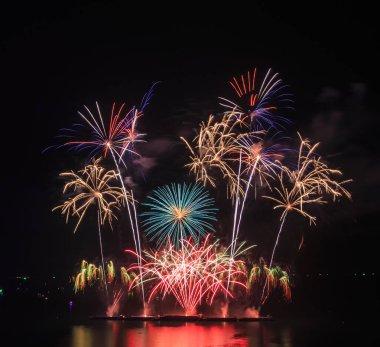 Colorful beautiful fireworks