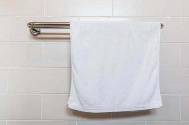 white Bathroom towel