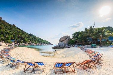 beach chairs at Nang Yuan island