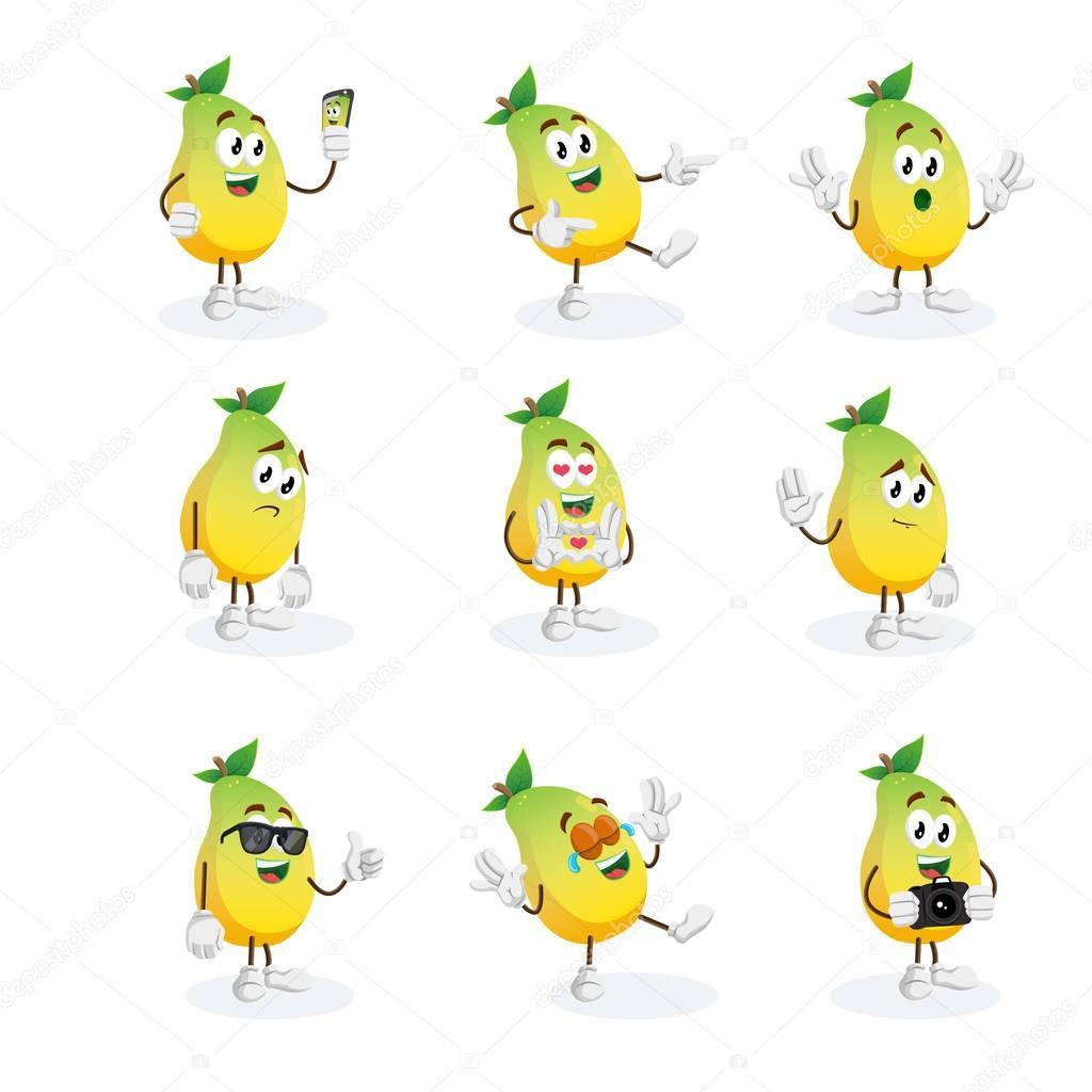 all set avocado mascot