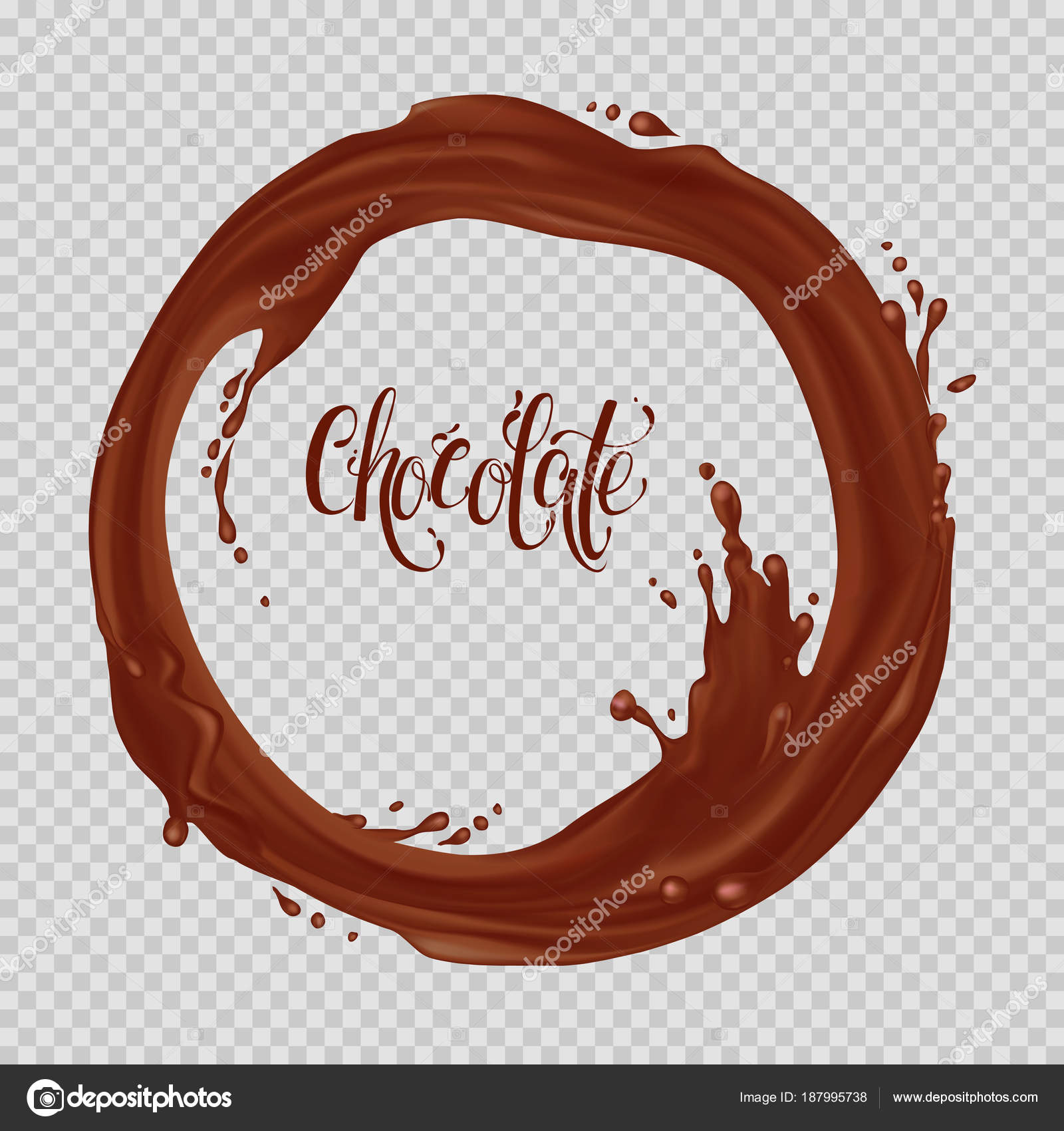 chocolate flowing circle realistic falling drops splash isolated transparent background stock vector c ragneda 187995738 https depositphotos com 187995738 stock illustration chocolate flowing circle realistic falling html