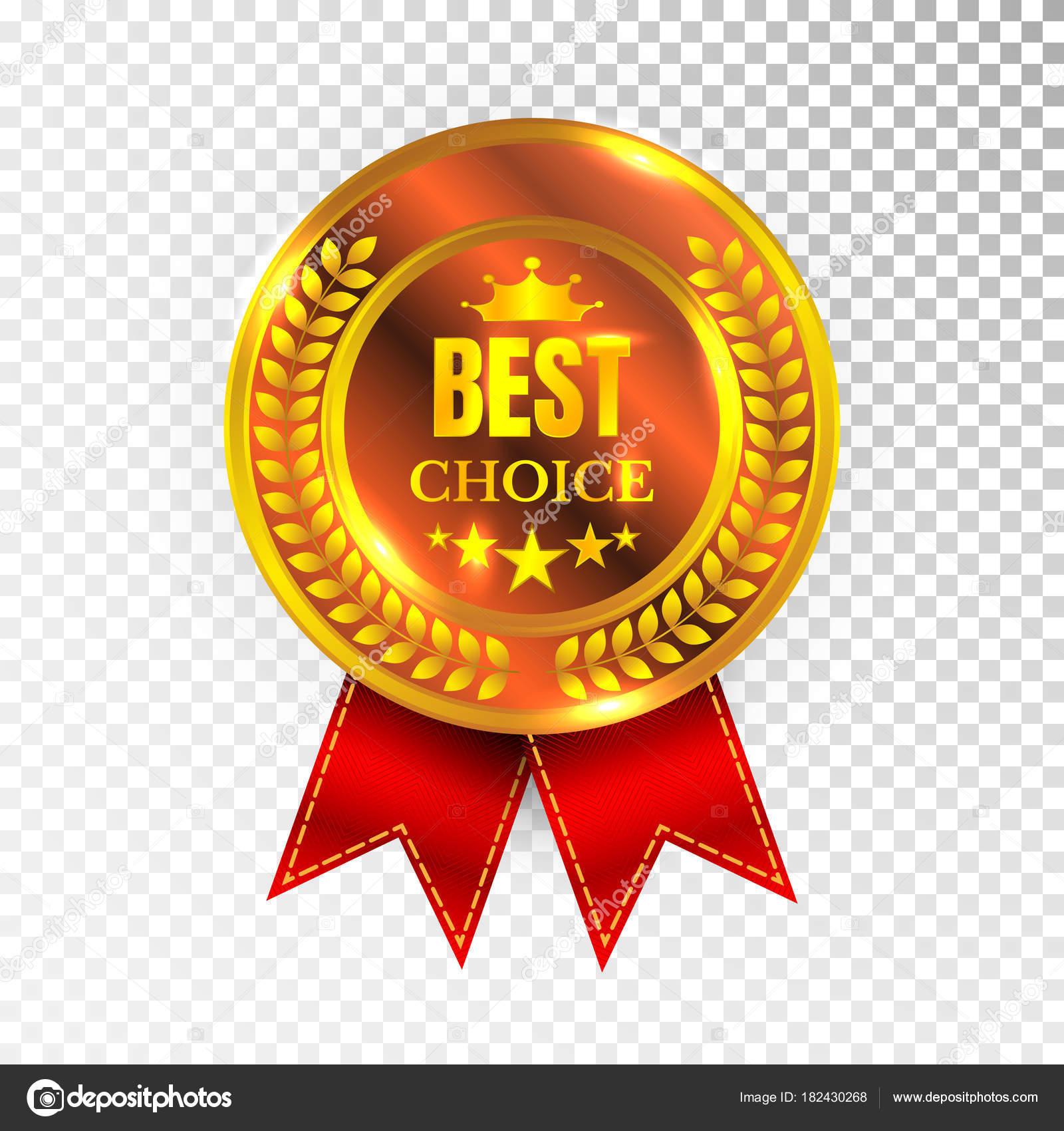 gold best choice label illustration golden medal label icon seal