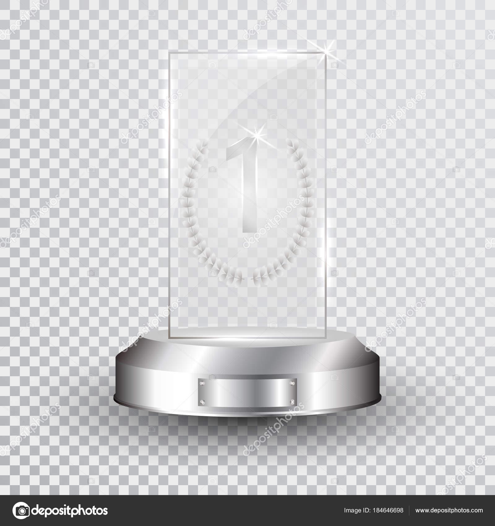 glass trophy award designer template vector illustration stock