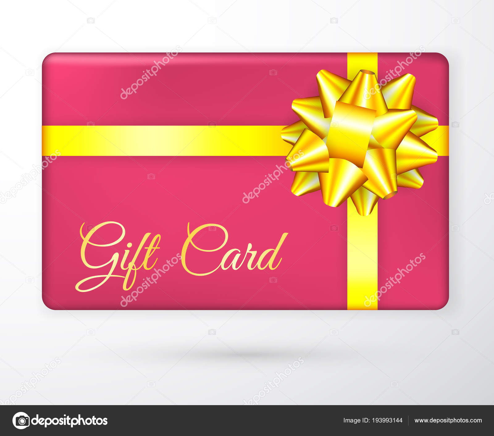 Vector gift vouchers with bow gold yellow ribbons, and red ...