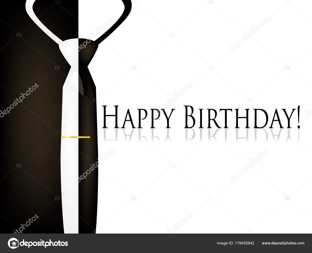 Vector Cartão Feliz Aniversário Homens Com Gravata Vetores De