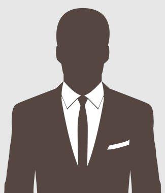 Unknown person silhouette.  Profile picture, silhouette profile. Man avatar profile. Male profile icons.