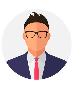 Unknown person silhouette with glasses.  Profile picture, silhouette profile. Man avatar profile. Male profile icons.