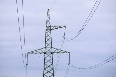 Electricity pylons. Steel construction.