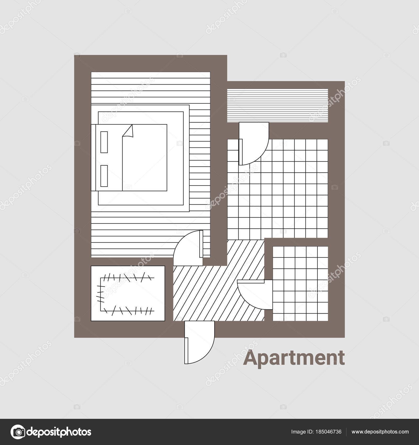 Projekt des Hauses. Im Erdgeschoss — Stockvektor © FYuriy #185046736